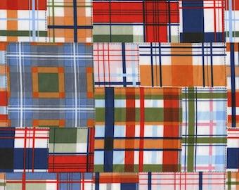 Michael Miller Fabric Patchwork Plaid Multi