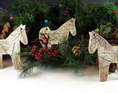 Nature Horse Ornament - Christmas Tree Ornament - Botanical