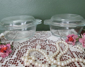 Anchor Hocking Casserole Individual Clear Glass Set of 2