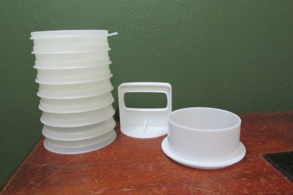 Tupperware Hamburger Press And 8 Freezer Containers