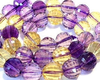 Ametrine AAAA quality checker machine facted 10mm beads half strand