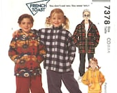 Toddler Sweatshirt Sweatpants Jacket Vintage French Toast Winter Wardrobe Uncut Pattern McCall's 7378 Size CD 2 to 4