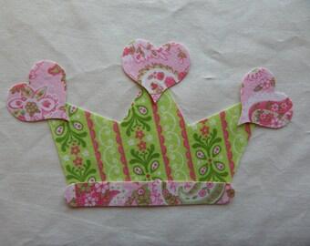 1 Fabric Tiara Iron On Applique