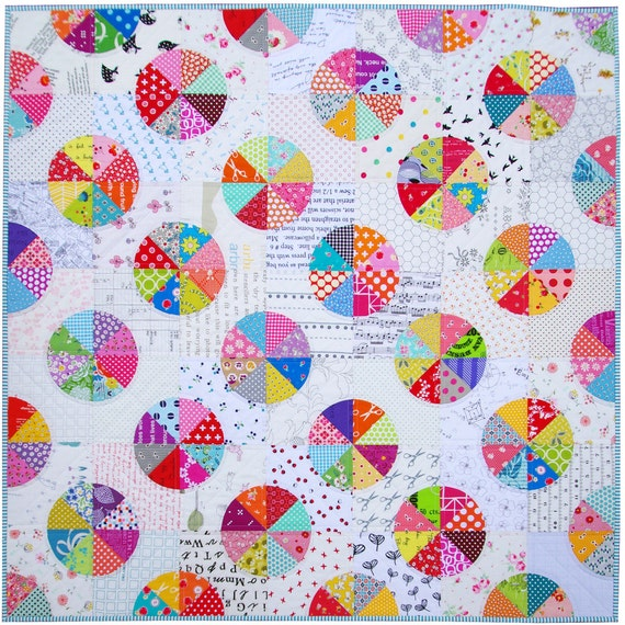 A Piece of the Pie ~ Modern Patchwork Baby and Toddler Quilt