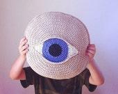 Eye - crochet pillow pattern - pdf