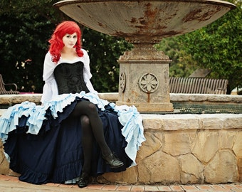 Ariel Inspired Blue Steampunk Outfit