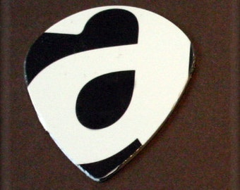 Limited Edition-A Guitar Pick-Upcycled Gift Card-Thin Guitar Pick