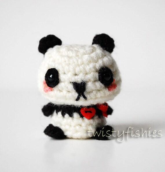 Kawaii Panda Amigurumi : SALE Baby Panda Kawaii Mini Amigurumi Plush