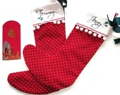 Custom Christmas Stockings/Wedding Check Holder- Personalized PAIR as Original Keepsake
