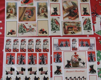 53 Crafts Scrap Booking or Christmas Gift Tags Featuring VINTAGE SCOTTIE DOGS