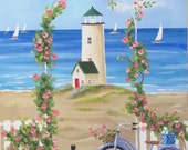 Dreaming of Summer Original Folk Art Painting