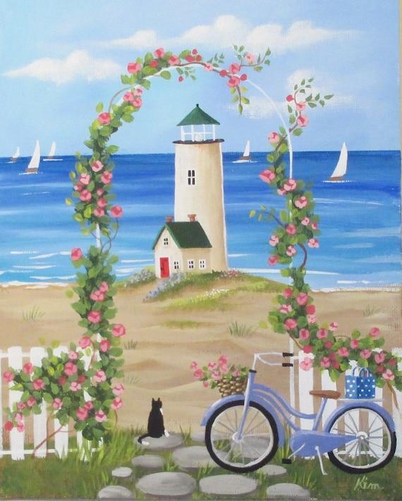 Vous rêvez d'été Folk Art Print
