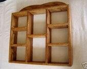 Shadow Box Wood Wall Shelf Reversible Wall Hanging Oak Shelf