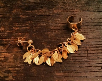 Leaf Shimmy Ear Cuff