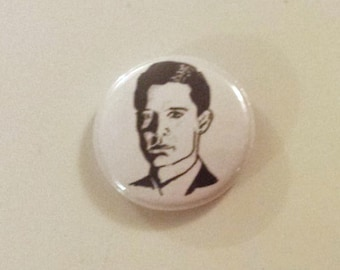 Agent Cooper Twin Peaks Pinback Button from Original Art by Maxx