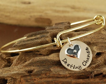 Personalized Bangle Name Bracelet, Mommy Jewelry, Gold Bangle Charm Bracelet, Name Bracelet