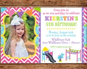 Girl or Boy Playground Park Slide Party Photo Picture Birthday Invitation - DIGITAL FILE