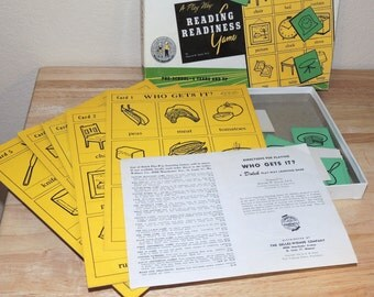 1954 Who Gets It? Reading Readiness Game by Edward Dolch Phd
