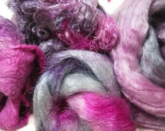 Donita Sparks - Hand Dyed MEGA Silk and Sparkle Fiber Kit