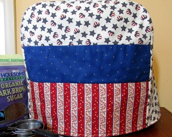 Americana Kitchen Aid Mixer Cover-Fits Classic, Deluxe, Artisan-Great gift for Cook