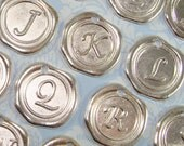 2 Wax Seal Letter Charms Silver - You Choose Letter - Personalized Custom Jewelry Making Supplies - Initial Alphabet - Best Friend Gifts