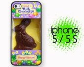 iPhone 5S Chocolate Easter Bunny Funny Food Case Plastic or Rubber Case for iPhone 5 iPhone 5S