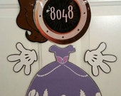 Princess Sophia Minnie Mouse Body Part Stateroom Door Magnets for Disney Cruise