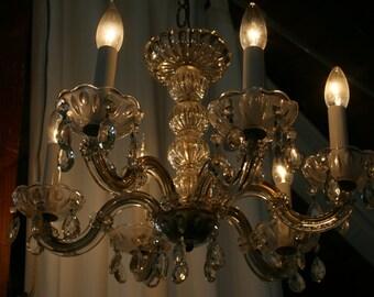 Elegant Vintage Crystal Chandelier