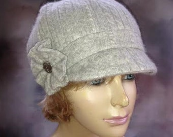 Emilie,  100% pure Cashmere Newsboy Hat...Assorted Colors