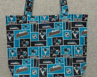San Jose Sharks Tote Bag/Book Bag/Project Bag