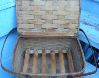 antique splint wood etsy. Black Bedroom Furniture Sets. Home Design Ideas