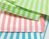 Set of 50 - Traditional Sweet Shop Candy Stripe Paper Bags - 5 x 7 Easter Colors - New!
