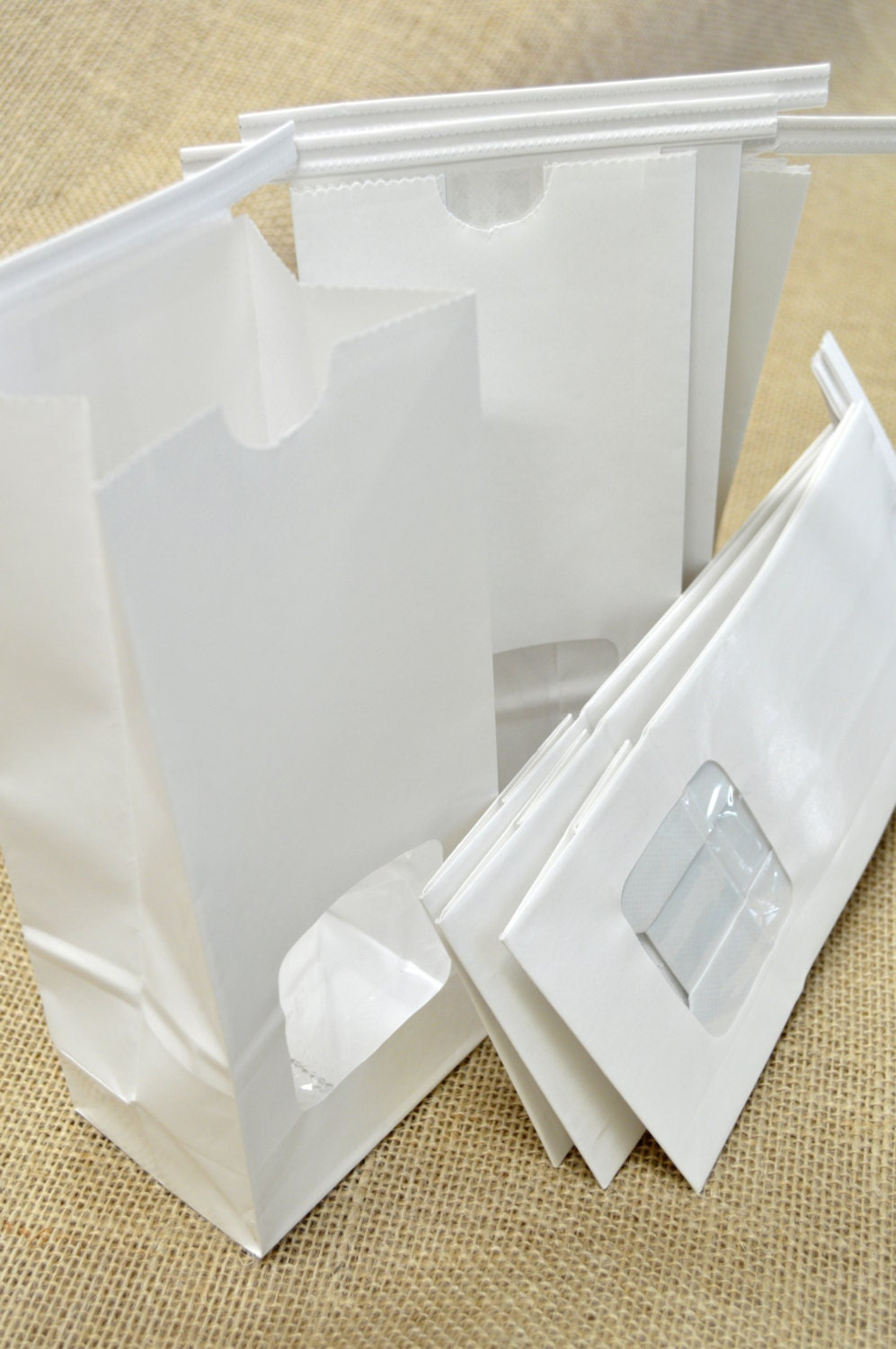 brown window faced kraft tin tie bags how to use