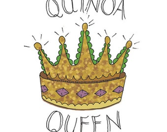 Quinoa Temporary Tattoo - Quinoa Queen - Foodietoo - Foodie Tattoo