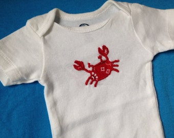 Crab bodysuit   size 0-3 months