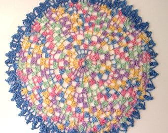 Multi Colored Intricate Vintage Doily