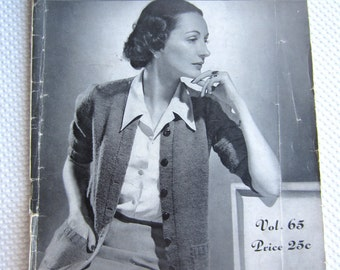 Vintage 1942 Minerva Ladies Staple Sweaters Pattern Book