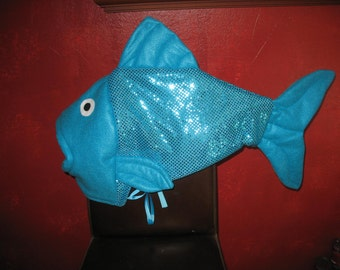 Childrens tiger shark costume 5 6 by lauriesgift on etsy for Fish head costume