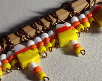 Halloween knit stitch markers - Candy Corn