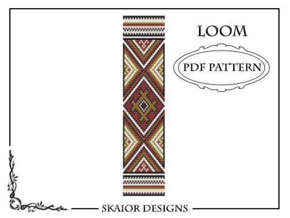 Bead Loom Pattern Native American Tribal Ethnic Seed Bead