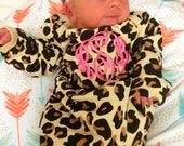 Personalized LEOPARD monogrammed piece, COMING HOME