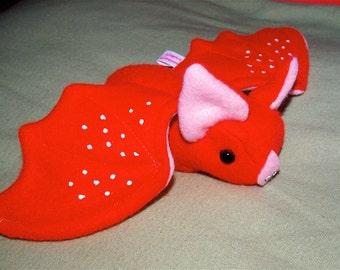 Fruit Bat Plushie - Strawberry Strawbatty