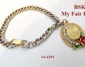 FREE SHIP Vintage BSK My Fair Lady Bracelet (4-4391)