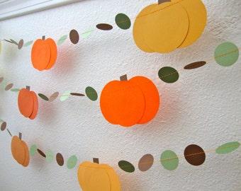 Pumpkin garland