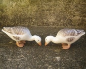 2 Bing & Grondahl Duck or Geese Figurines - adorable -hand painted porcelain- Wedding Cake Toppers