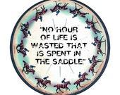 Vintage Horse Riding Inspired Small Pocket Mirror