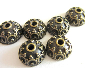 25 Antique bronze bead caps jewelry findings 10mm x 5mm no lead no nickel metal jewelry making supplies A19567-Y2