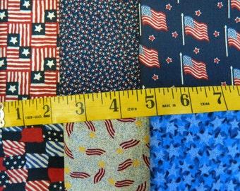 6 Patriotic Fat Quarters (675E)