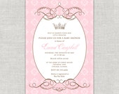 By  Royal Decree Baby Shower Invitation