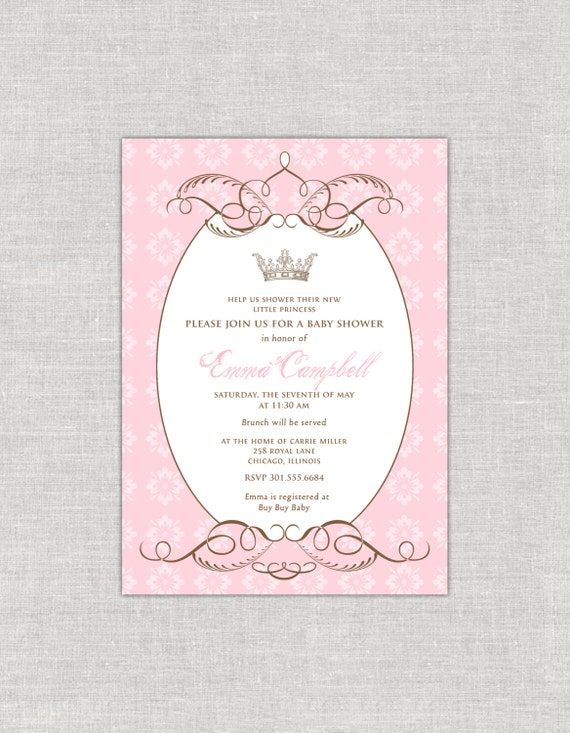by royal decree baby shower invitation by paperimpressions